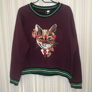NWT H&M Cat Sweater Large